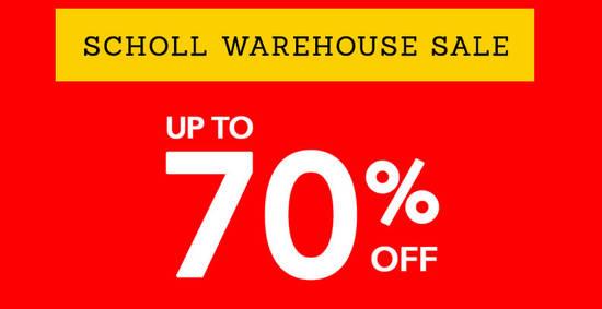 Scholl warehouse sale feat 21 Jul 2017