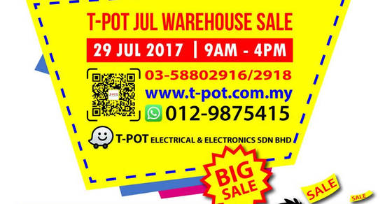 TPot warehouse sale 24 Jul 2017