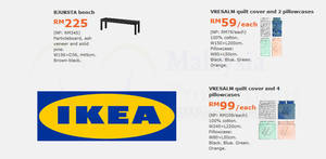 IKEA: Grab savings of up to RM120 on selected items! Valid from 7 – 30 Aug 2017