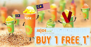 Juice Works: Buy 1 FREE 1 selected drinks at ALL outlets on 18 Aug 2017, 2pm – 10pm!