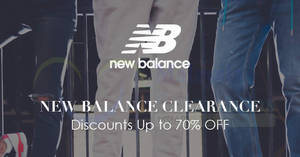 New Balance up to 70% off massive clearance sale at The Gardens Mall! From 17 Aug – 3 Sep 2017
