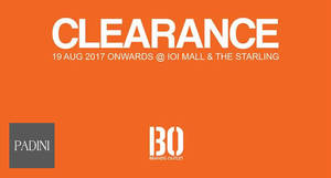 Padini fr RM10 Brands Outlet Fair at IOI Mall & The Starling! From 19 – 31 Aug 2017