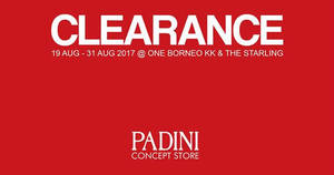 Padini: RM6 onwards clearance SALE at The Starling & One Borneo KK! From 19 – 31 Aug 2017