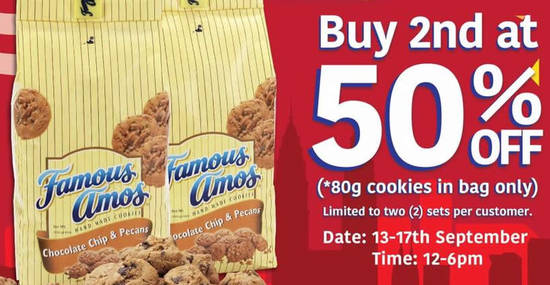 Famous Amos feat 12 Sep 2017