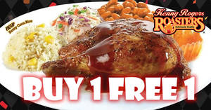 Kenny Rogers ROASTERS: Buy 1 FREE 1 Victory meal! From 19 – 21 Sep 2017
