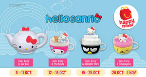 McDonald's – Redeem a FREE Hello Kitty toy with any Happy Meal purchase! From 5 Oct – 11 Nov 2017