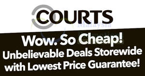 Courts: Unbelievable deals storewide with lowest price guarantee! From 18 – 19 Nov 2017