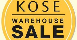 KOSÉ up to 70% off warehouse sale! From 24 – 25 Nov 2017