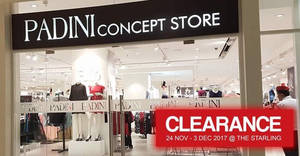 Padini: Clearance sale at The Starling outlet! From 24 Nov – 3 Dec 2017