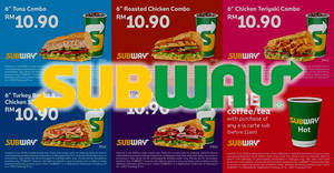 Subway releases new coupon deals! Valid from 1 Nov 2017 – 2 Jan 2018