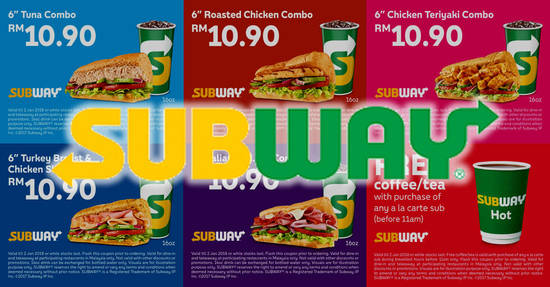 Subway feat 1 Nov 2017