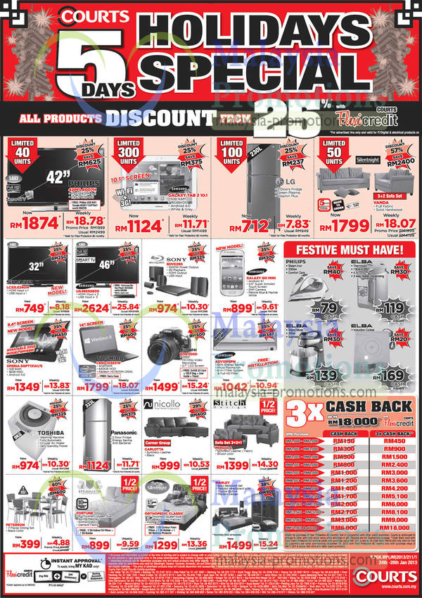 Featured image for Courts 5 Days Holiday Special 26 Jan 2013