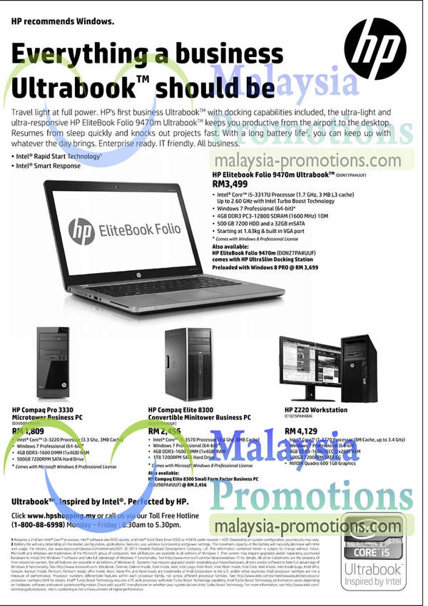 Featured image for HP Business Ultrabooks & Notebook Offers 29 Jan 2013