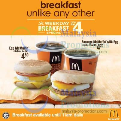 Mcdonalds 23 Jan 2013 Mcdonald S New Rm4 Weekday Breakfast