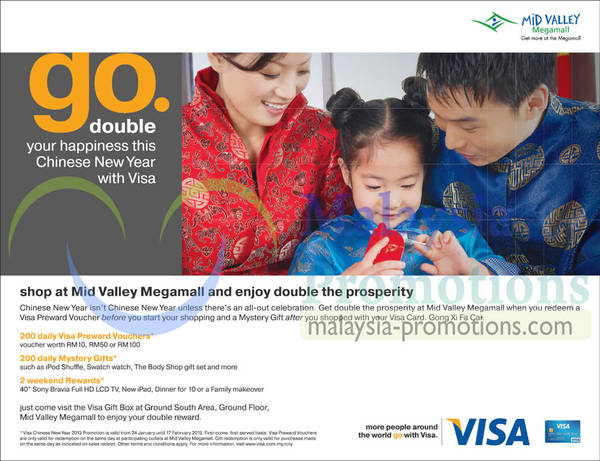 Featured image for Mid Valley Megamall Visa Promotion 24 Jan – 17 Feb 2013