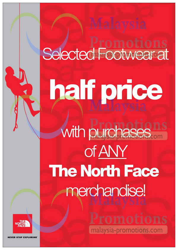 Featured image for The North Face 50% Off Footwear With Any Purchase 30 Jan – 10 Feb 2013
