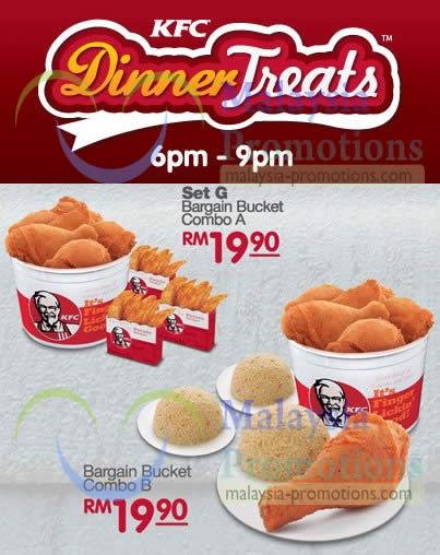 Dinner Treats Bargain Bucket Combo A, Bargain Bucket Combo B