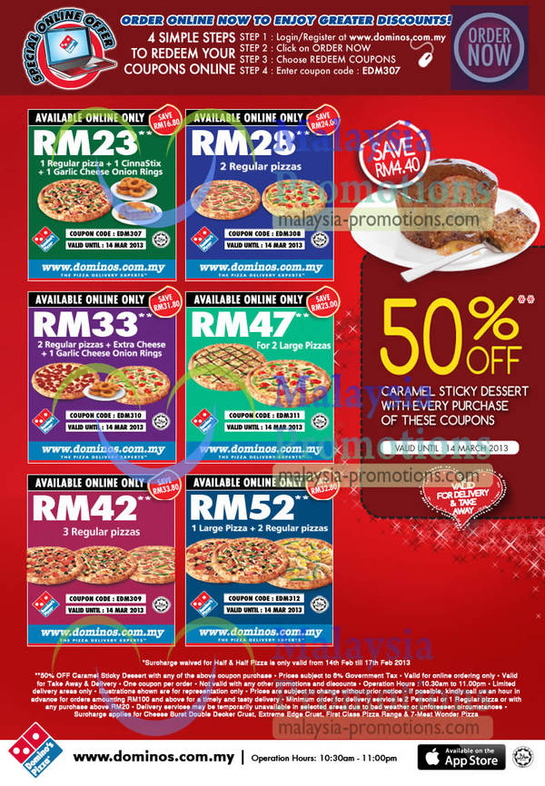 Dominos pizza coupons delivery