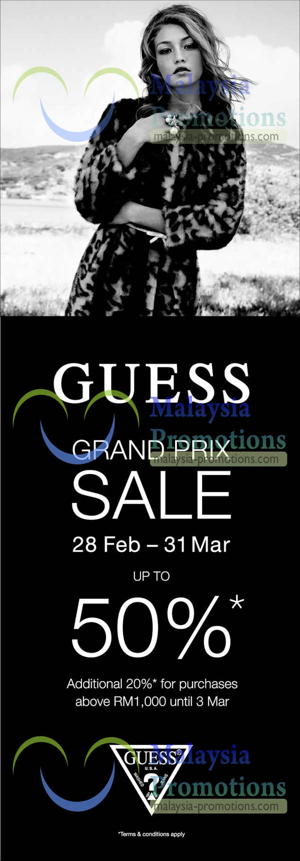 Featured image for Guess Grand Prix Sale Up To 50% Off 28 Feb – 31 Mar 2013