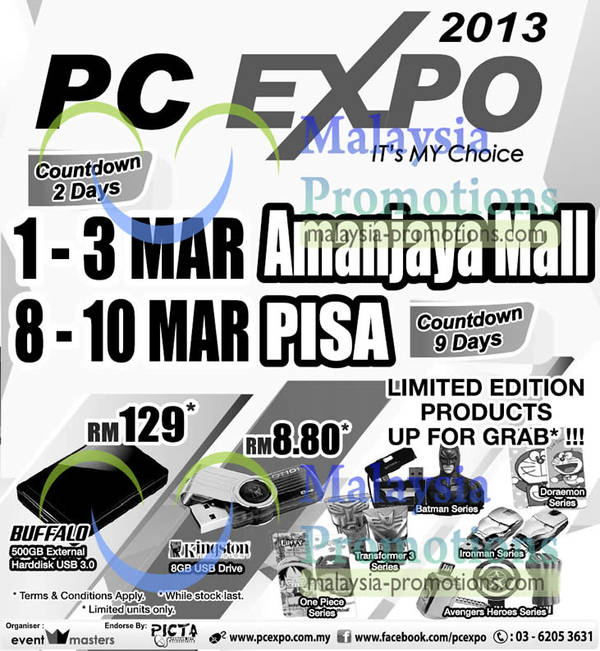 Featured image for PC Expo 2013 @ Amanjaya Mall 1 – 3 Mar 2013