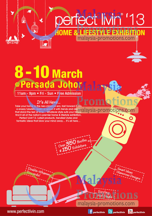 Featured image for Perfect Livin 2013 Home & Lifestyle Exhibition @ Persada Johor 8 – 10 Mar 2013