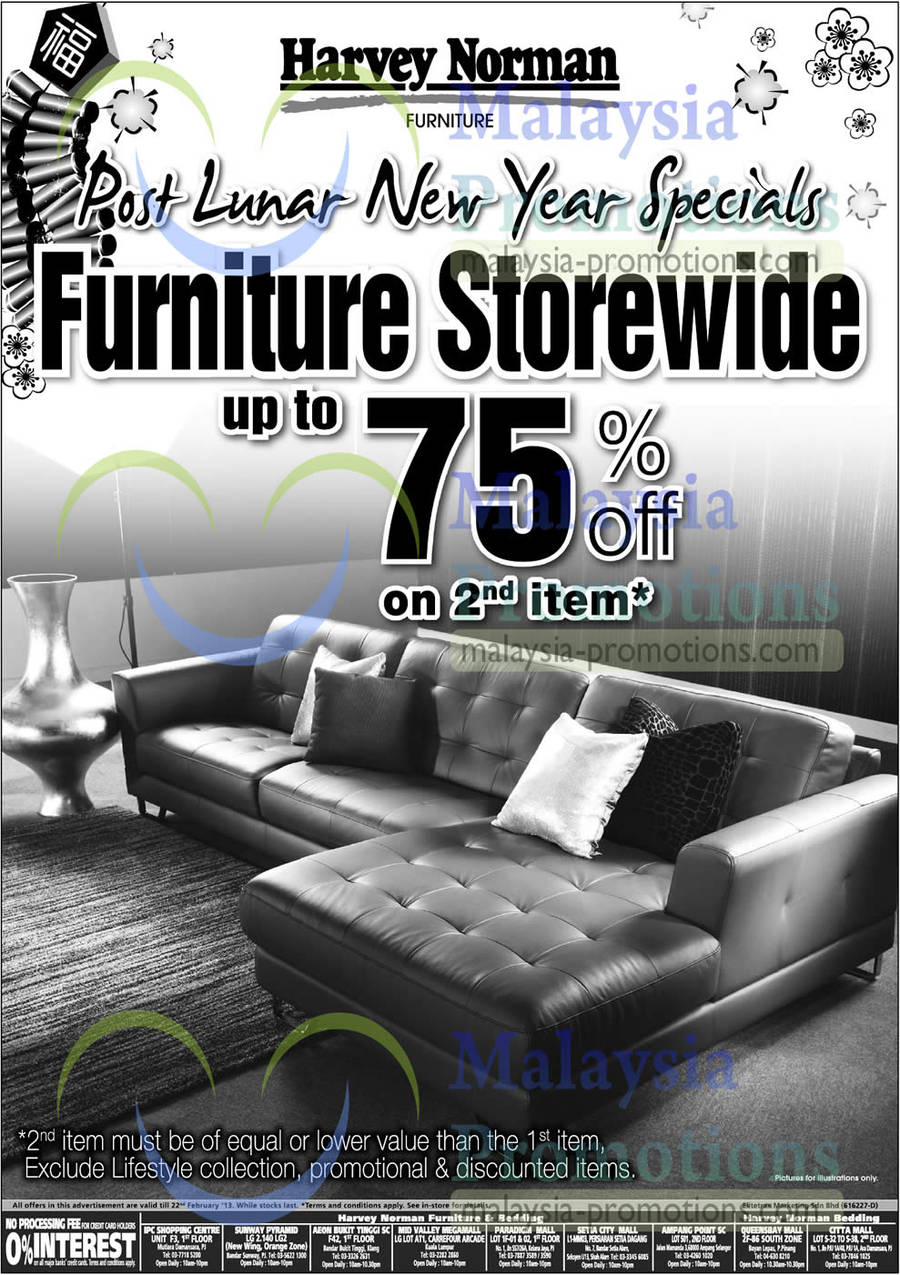 Featured image for Harvey Norman Furniture, Notebooks & Accessories Offers 16 - 22 Feb 2013