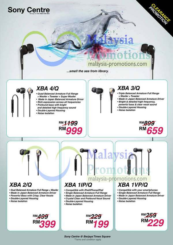 Featured image for Sony Earphones Clearance Sale @ Berjaya Times Square 27 Feb 2013