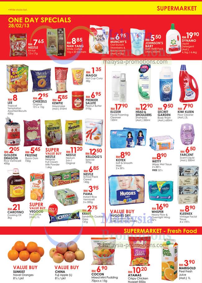 supermarket one day specials fresh food kl sogo