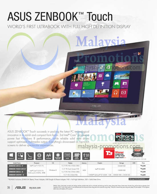 Featured image for Asus Notebooks & Tablets Offers 1 Mar - 30 Apr 2013
