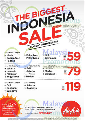 Featured image for Air Asia Indonesia Air Fares Sale 29 Apr – 5 May 2013