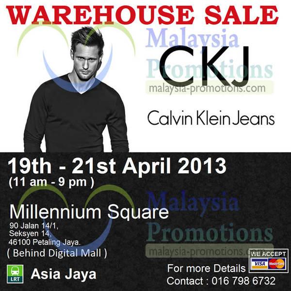 Featured image for Calvin Klein Jeans Warehouse Sale @ Millennium Square Petaling Jaya 19 – 21 Apr 2013