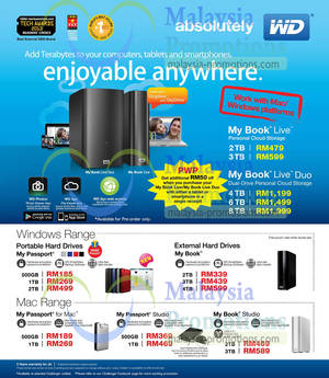 Featured image for Western Digital External Storage Drive Offers @ Challenger 28 Apr 2013