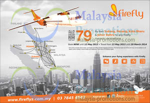 Featured image for Firefly From RM79 To Any Firefly Domestic Destination Air Fares Promo 29 Apr – 12 May 2013