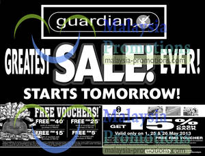 Featured image for Guardian Greatest Sale & Promotions Starts 1 May 2013