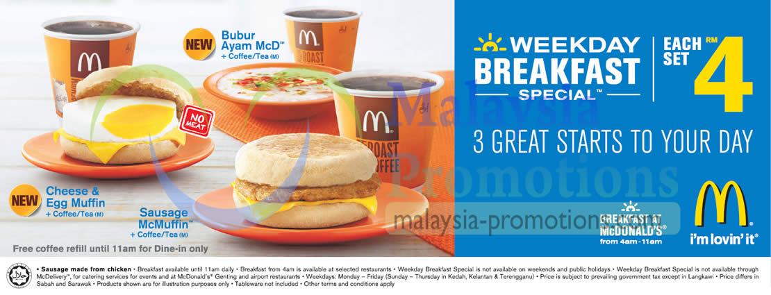Rm4 Weekday Breakfast Special Sets