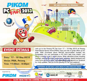 Featured image for Pikom PC Fair 2013 @ PISA 17 – 19 May 2013