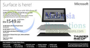 Featured image for Microsoft Surface Features & Price @ Thunder Match 26 Apr 2013
