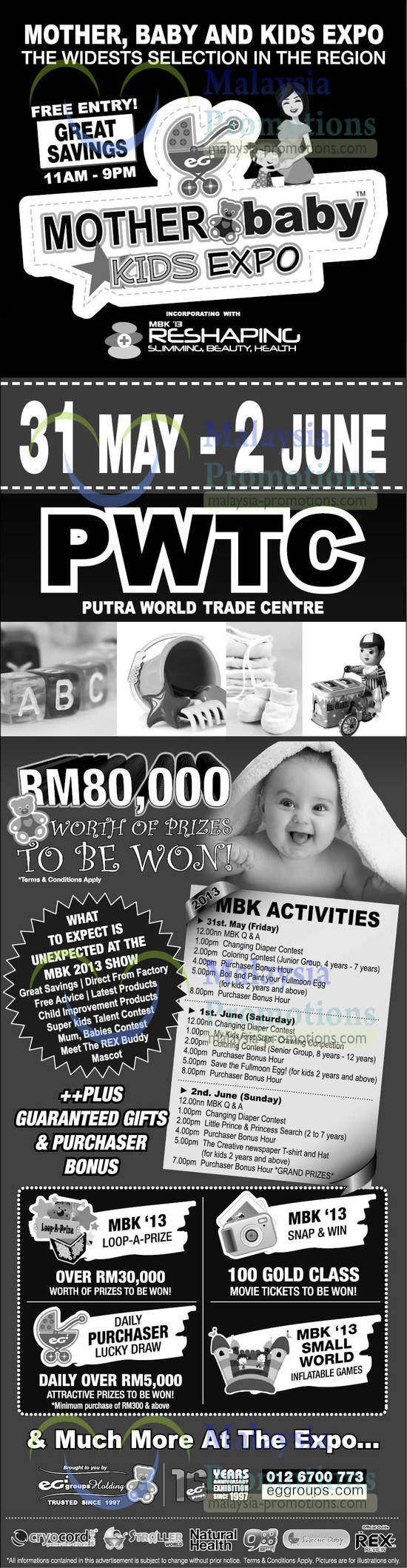 Mother, Baby n Kids Expo 27 May 2013