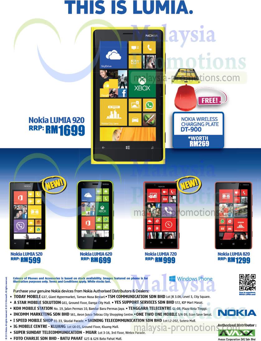 Nokia Lumia 920 520 620 720 820 Mobile Phones Price List 30 May 2013