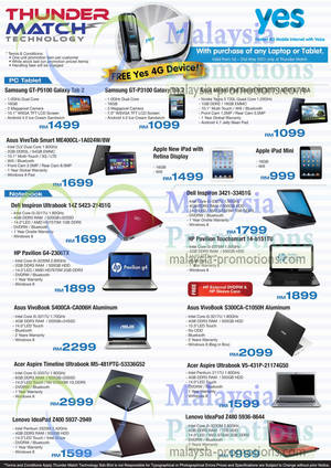 Featured image for Thunder Match Notebooks & Tablets Offers 14 – 31 May 2013
