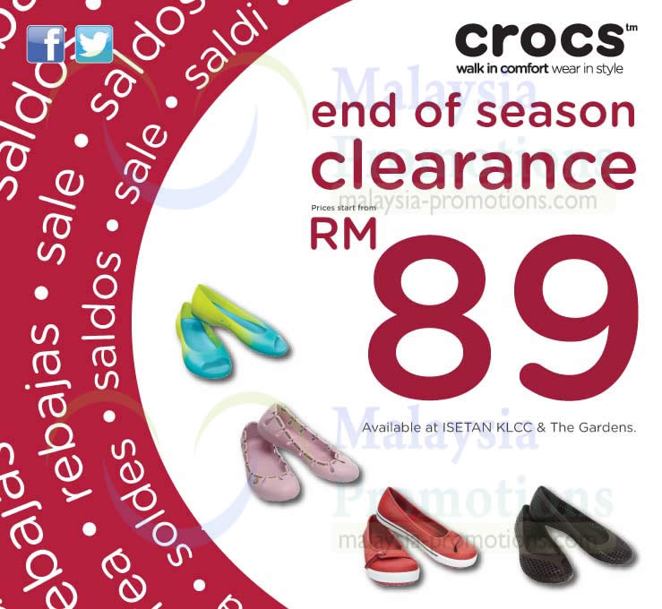 new concept 7d186 a6642 Crocs End of Season Sale @ Isetan 21 Jun – 4 Jul 2013