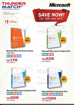 Featured image for Thunder Match Technology Microsoft Office Software Offers 20 Jun 2013