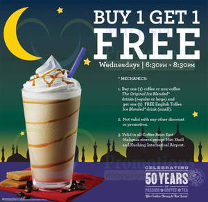 Featured image for The Coffee Bean & Tea Leaf Sarawak Wednesdays 1 For 1 Promo 30 Jul 2013
