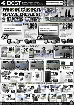 Featured image for Best Denki Merdeka Raya 3 Day Notebooks, TV & Electronics Deals 30 Aug – 1 Sep 2013