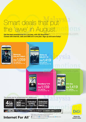 Featured image for DiGi SmartPlan Smartphone Offers 16 Aug 2013