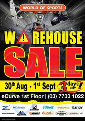 Featured image for World of Outdoors Warehouse SALE @ eCurve 30 Aug – 1 Sep 2013