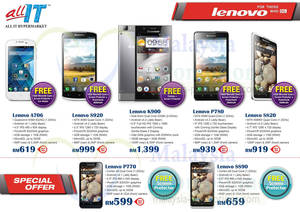 Featured image for Lenovo Smartphones Offers Price List @ All IT Hypermarket 4 Sep 2013