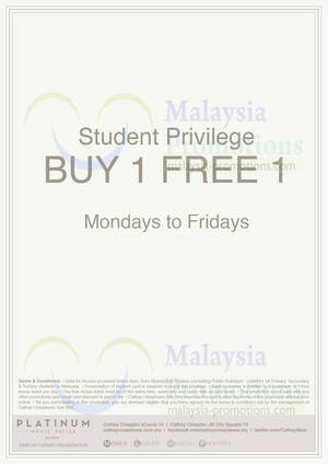 Featured image for Cathay Cineplexes 1 For 1 Platinum Movie Suites For Students 3 Sep 2013