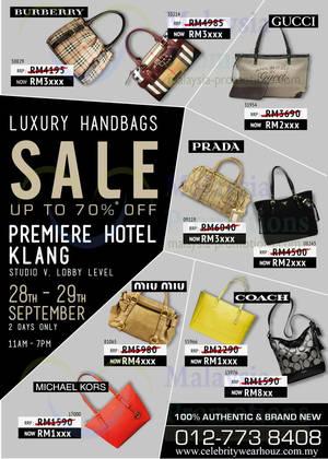 6de096ece0a7 Celebrity Wear Houz Luxury Branded Handbags SALE 28 – 29 Sep 2013