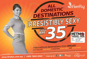 Featured image for Firefly From RM35 Promotion Air Fares 30 Sep – 6 Oct 2013